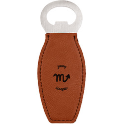 Zodiac Constellations Leatherette Bottle Opener (Personalized)