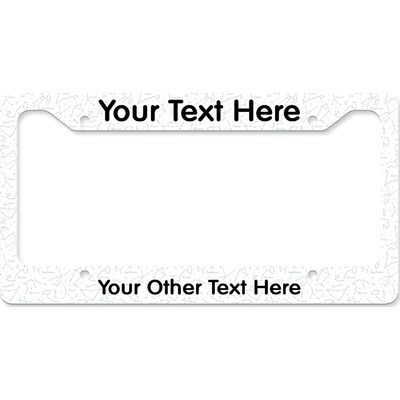 Zodiac Constellations License Plate Frame (Personalized)