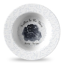 Zodiac Constellations Plastic Bowl - Microwave Safe - Composite Polymer (Personalized)