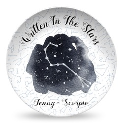 Zodiac Constellations Microwave Safe Plastic Plate - Composite Polymer (Personalized)