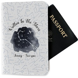 Zodiac Constellations Passport Holder - Fabric (Personalized)
