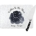 Zodiac Constellations Rectangular Glass Cutting Board (Personalized)