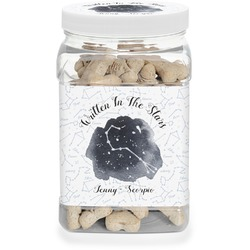 Zodiac Constellations Pet Treat Jar (Personalized)