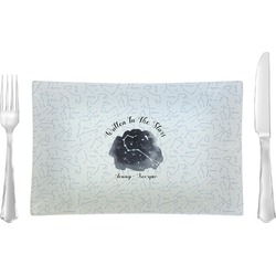 Zodiac Constellations Rectangular Glass Lunch / Dinner Plate - Single or Set (Personalized)