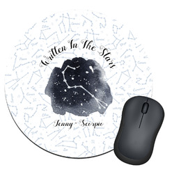 Zodiac Constellations Round Mouse Pad (Personalized)