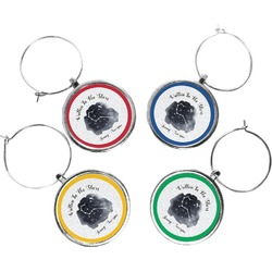 Zodiac Constellations Wine Charms (Set of 4) (Personalized)