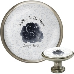 Zodiac Constellations Cabinet Knob (Silver) (Personalized)
