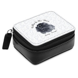 Zodiac Constellations Small Leatherette Travel Pill Case (Personalized)