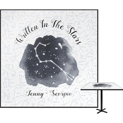 Zodiac Constellations Square Table Top (Personalized)