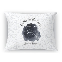 Zodiac Constellations Rectangular Throw Pillow Case (Personalized)