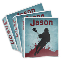 Lacrosse 3-Ring Binder (Personalized)