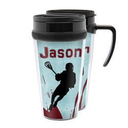 Lacrosse Acrylic Travel Mugs (Personalized)