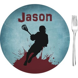 "Lacrosse Glass Appetizer / Dessert Plates 8"" - Single or Set (Personalized)"