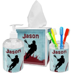 Lacrosse Acrylic Bathroom Accessories Set w/ Name or Text