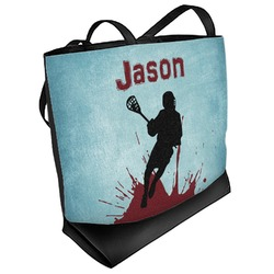 Lacrosse Beach Tote Bag (Personalized)