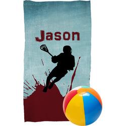 Lacrosse Beach Towel (Personalized)