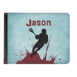 Lacrosse Genuine Leather Men's Bi-fold Wallet (Personalized)