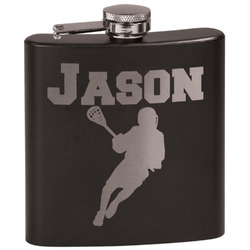Lacrosse Black Flask (Personalized)