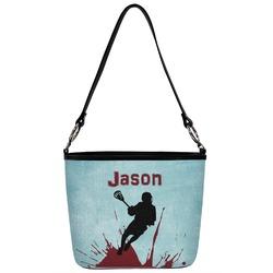 Lacrosse Bucket Bag w/ Genuine Leather Trim (Personalized)