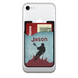 Lacrosse 2 in 1 Cell Phone Credit Card Holder & Screen Cleaner (Personalized)