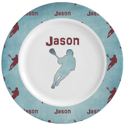 Lacrosse Ceramic Dinner Plates (Set of 4) (Personalized)