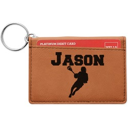 Lacrosse Leatherette Keychain ID Holder (Personalized)