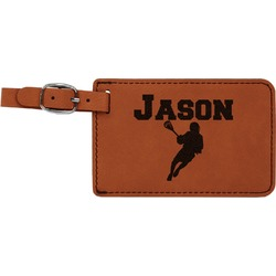 Lacrosse Leatherette Luggage Tag (Personalized)