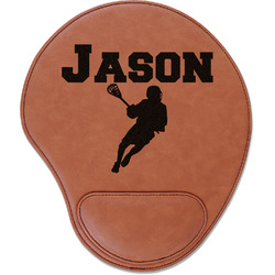 Lacrosse Leatherette Mouse Pad with Wrist Support (Personalized)