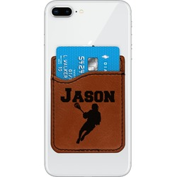 Lacrosse Leatherette Phone Wallet (Personalized)
