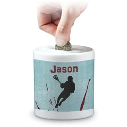 Lacrosse Coin Bank (Personalized)
