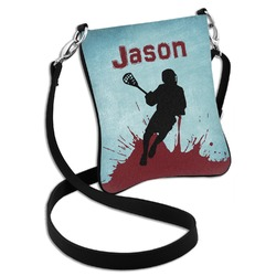 Lacrosse Cross Body Bag - 2 Sizes (Personalized)