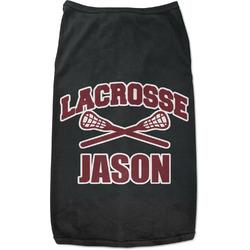 Lacrosse Black Pet Shirt (Personalized)