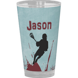 Lacrosse Drinking / Pint Glass (Personalized)