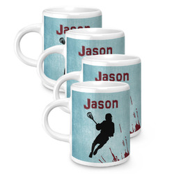 Lacrosse Espresso Mugs - Set of 4 (Personalized)