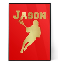 Lacrosse 5x7 Red Foil Print (Personalized)