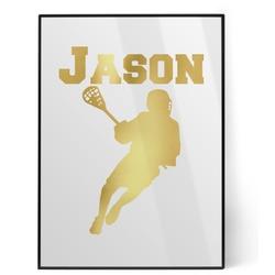 Lacrosse Foil Print (Personalized)
