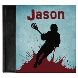 Lacrosse Genuine Leather Baby Memory Book (Personalized)