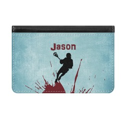 Lacrosse Genuine Leather ID & Card Wallet - Slim Style (Personalized)