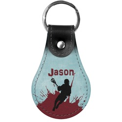 Lacrosse Genuine Leather  Keychain (Personalized)