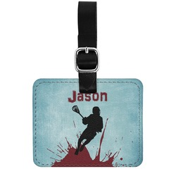 Lacrosse Genuine Leather Rectangular  Luggage Tag (Personalized)