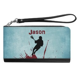 Lacrosse Genuine Leather Smartphone Wrist Wallet (Personalized)