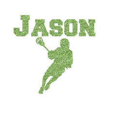 Lacrosse Glitter Iron On Transfer- Custom Sized (Personalized)