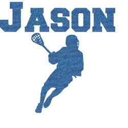"""Lacrosse Glitter Sticker Decal - Up to 6""""X6"""" (Personalized)"""