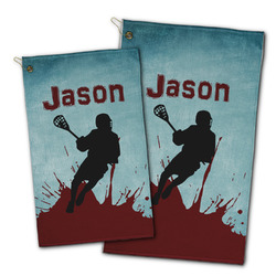 Lacrosse Golf Towel - Full Print w/ Name or Text
