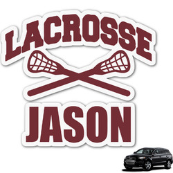 Lacrosse Graphic Car Decal (Personalized)