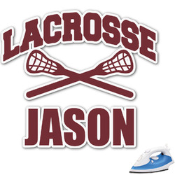 "Lacrosse Graphic Iron On Transfer - Up to 9""x9"" (Personalized)"