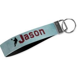 Lacrosse Wristlet Webbing Keychain Fob (Personalized)