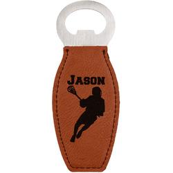 Lacrosse Leatherette Bottle Opener (Personalized)