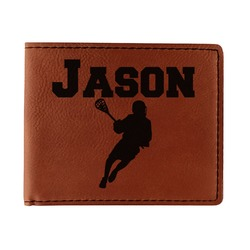 Lacrosse Leatherette Bifold Wallet - Double Sided (Personalized)