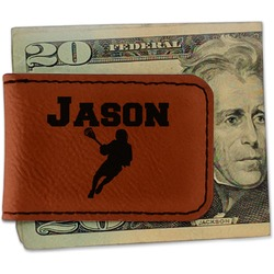 Lacrosse Leatherette Magnetic Money Clip (Personalized)